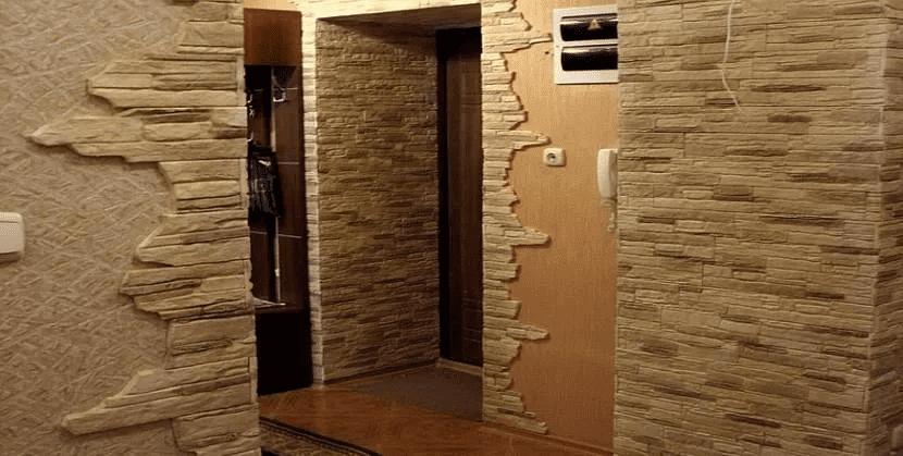Как красиво сделать стены в прихожей 045