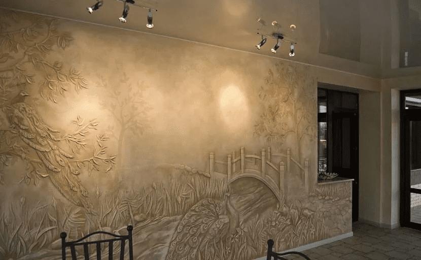 Как красиво сделать стены в прихожей 056