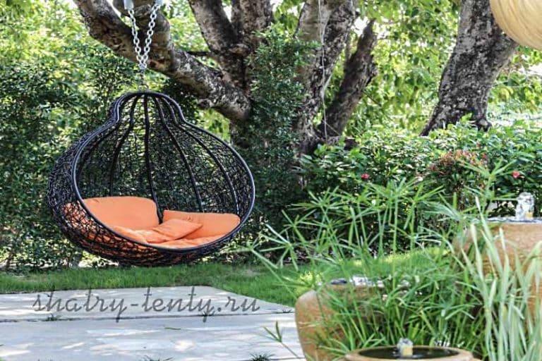 Садовые качели - для дачи, каркасные и бескаркасные, для отдыха 09