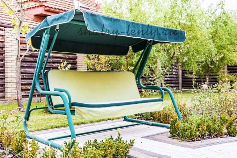 Садовые качели - для дачи, каркасные и бескаркасные, для отдыха 11