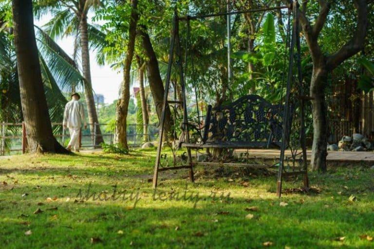 Садовые качели - для дачи, каркасные и бескаркасные, для отдыха 15