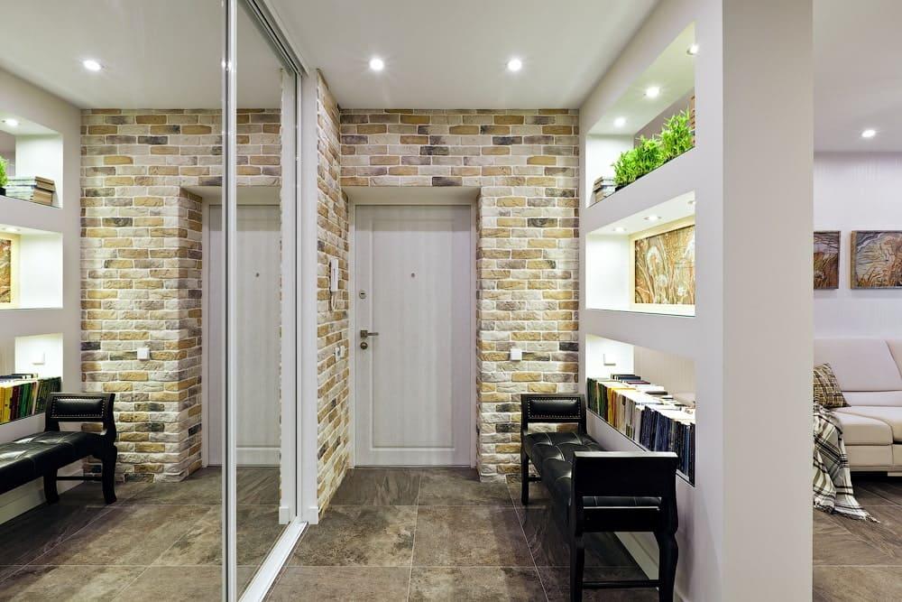 Стены в прихожей - идеи для маленького коридора 01