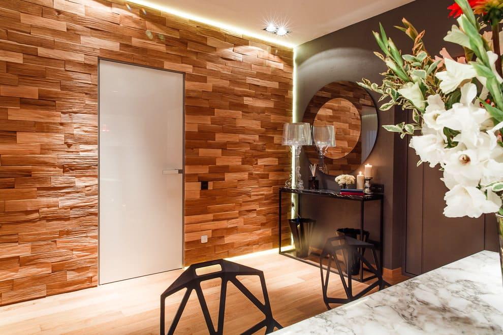 Стены в прихожей - идеи для маленького коридора 02