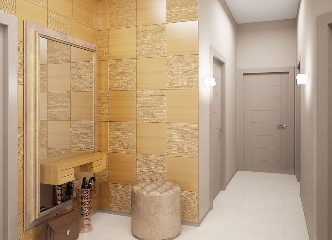 Стены в прихожей - идеи для маленького коридора 08