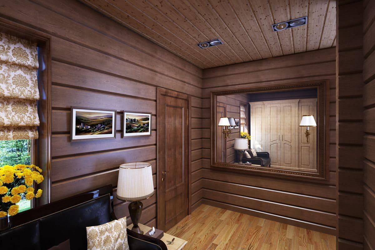Стены в прихожей - идеи для маленького коридора 17