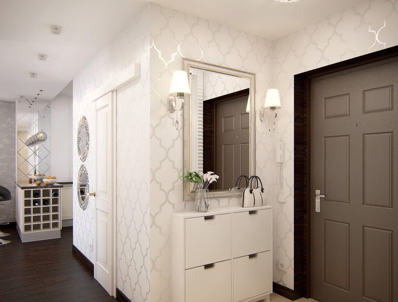 Стены в прихожей - идеи для маленького коридора 32