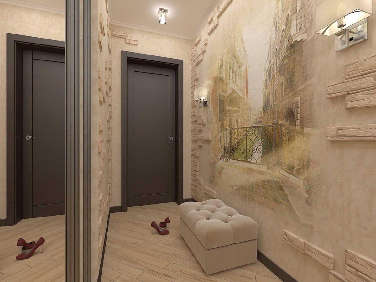 Стены в прихожей - идеи для маленького коридора 41