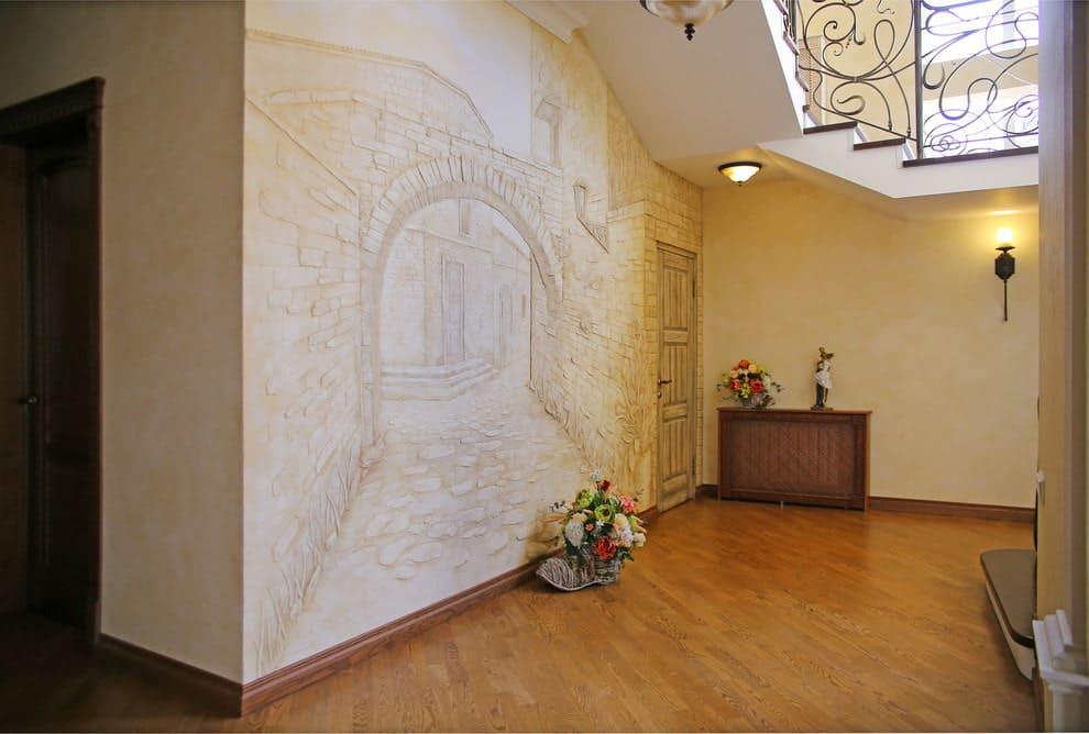 Стены в прихожей - идеи для маленького коридора 49