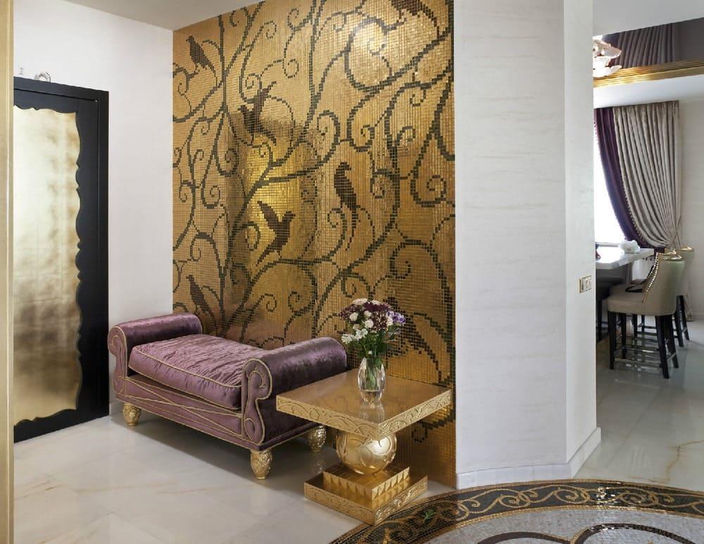 Стены в прихожей - идеи для маленького коридора 50