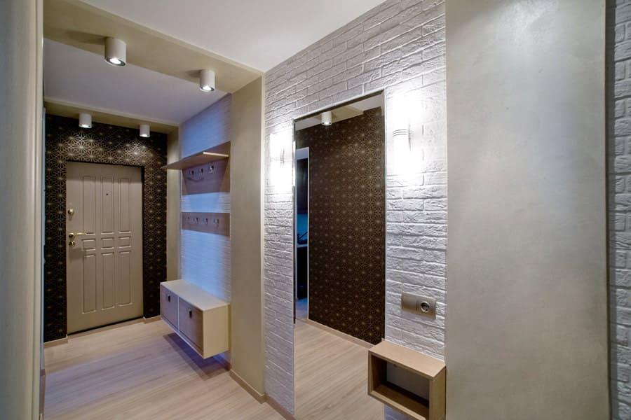 Стены в прихожей - идеи для маленького коридора 59
