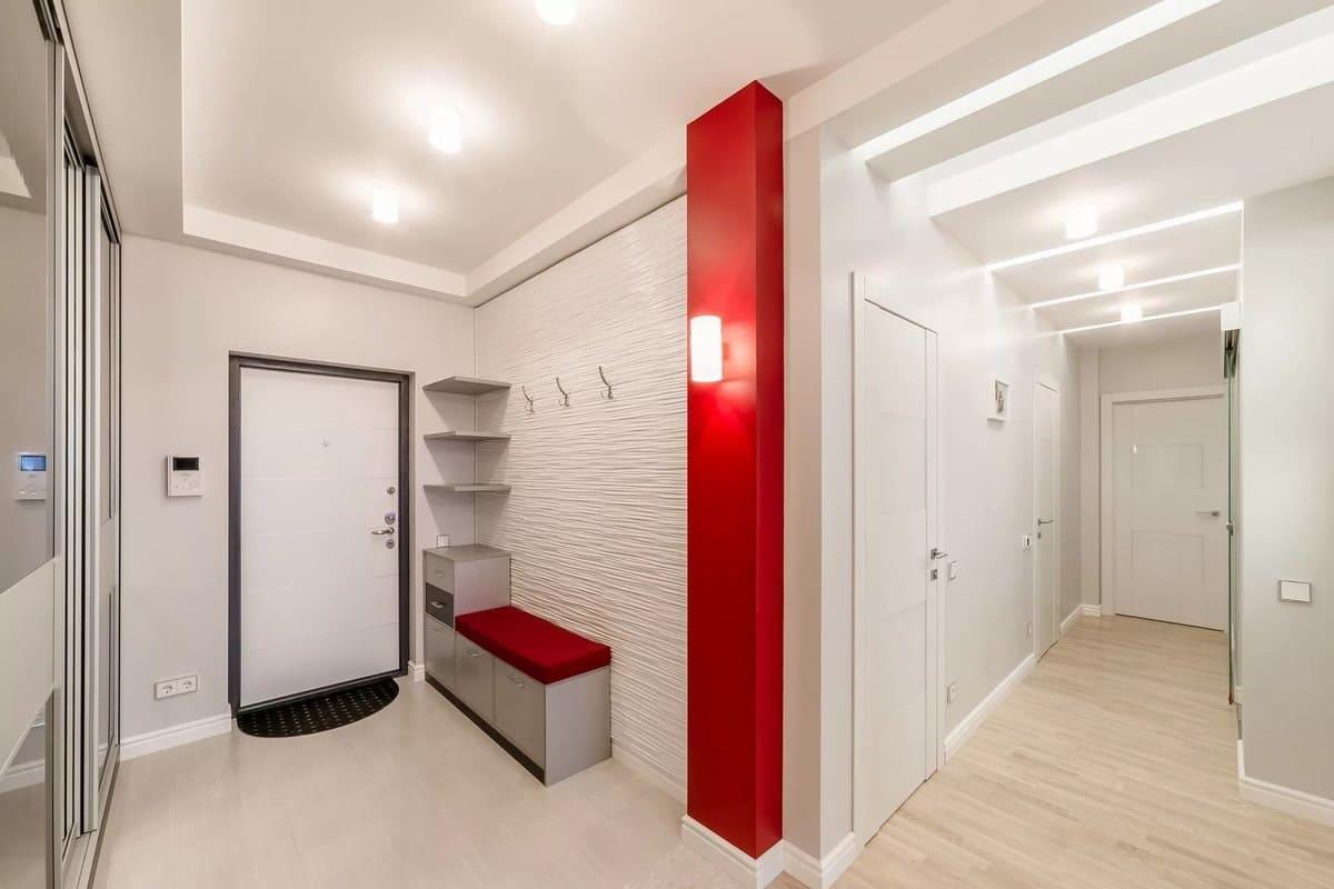 Стены в прихожей - идеи для маленького коридора 60
