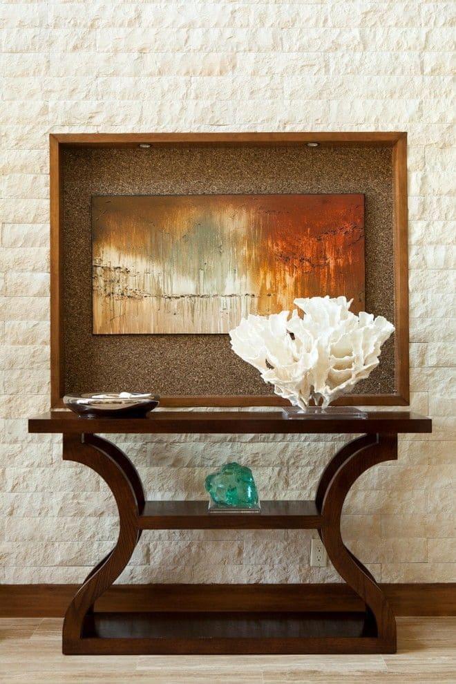 Варианты интерьера в прихожей - камень, ламинат, плитка, фреска 167
