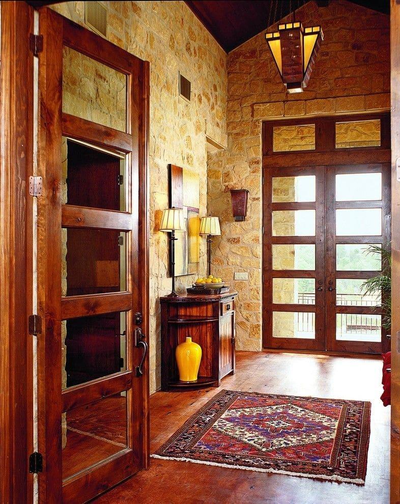 Варианты интерьера в прихожей - камень, ламинат, плитка, фреска 172