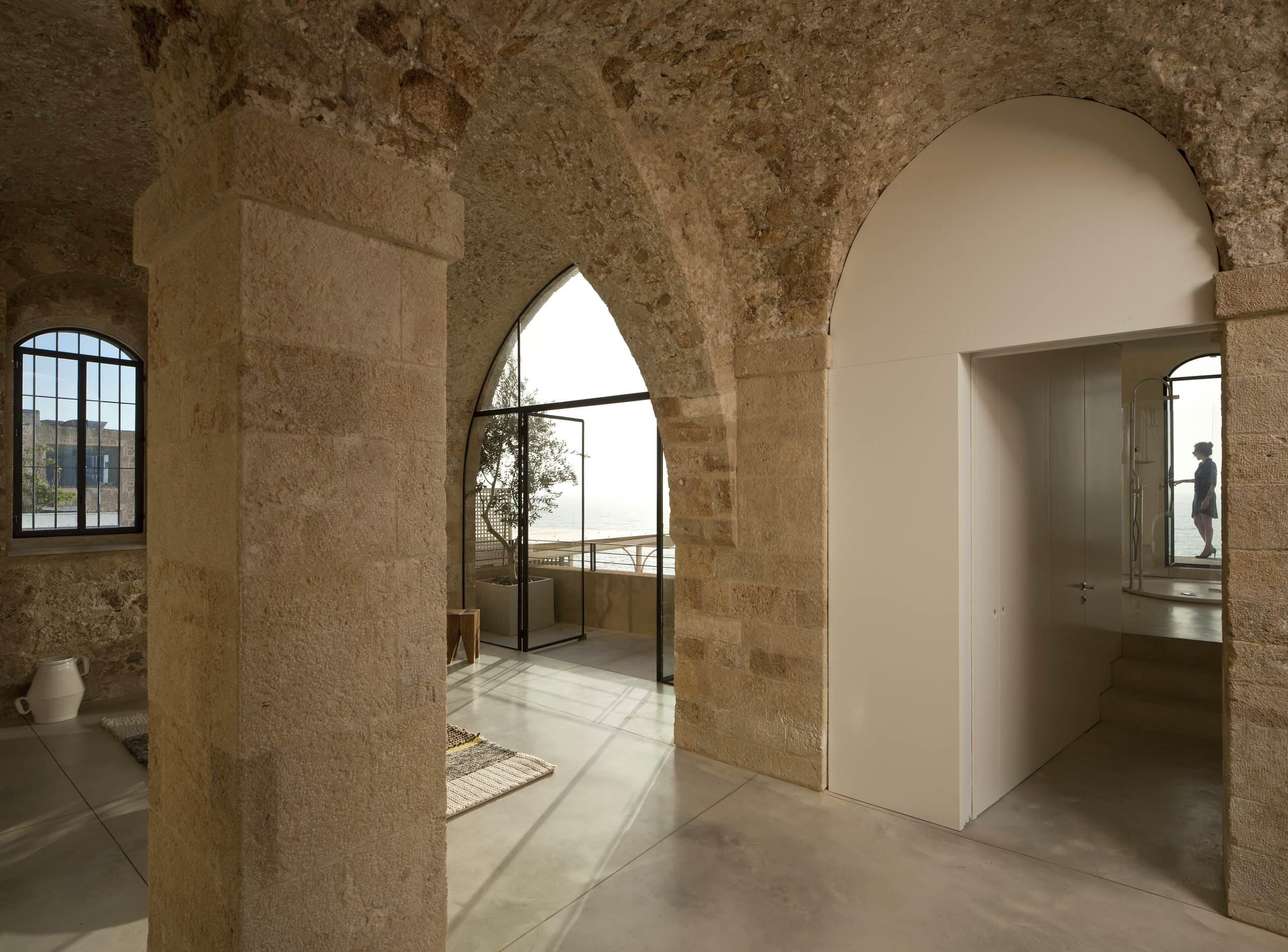 Варианты интерьера в прихожей - камень, ламинат, плитка, фреска 193