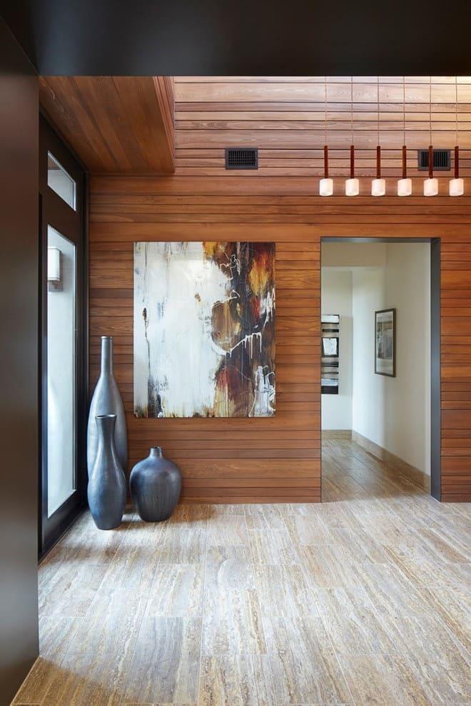 Варианты интерьера в прихожей - камень, ламинат, плитка, фреска 194