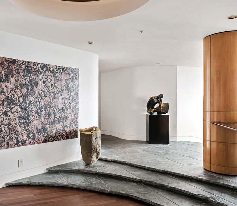 Варианты интерьера в прихожей - камень, ламинат, плитка, фреска 202