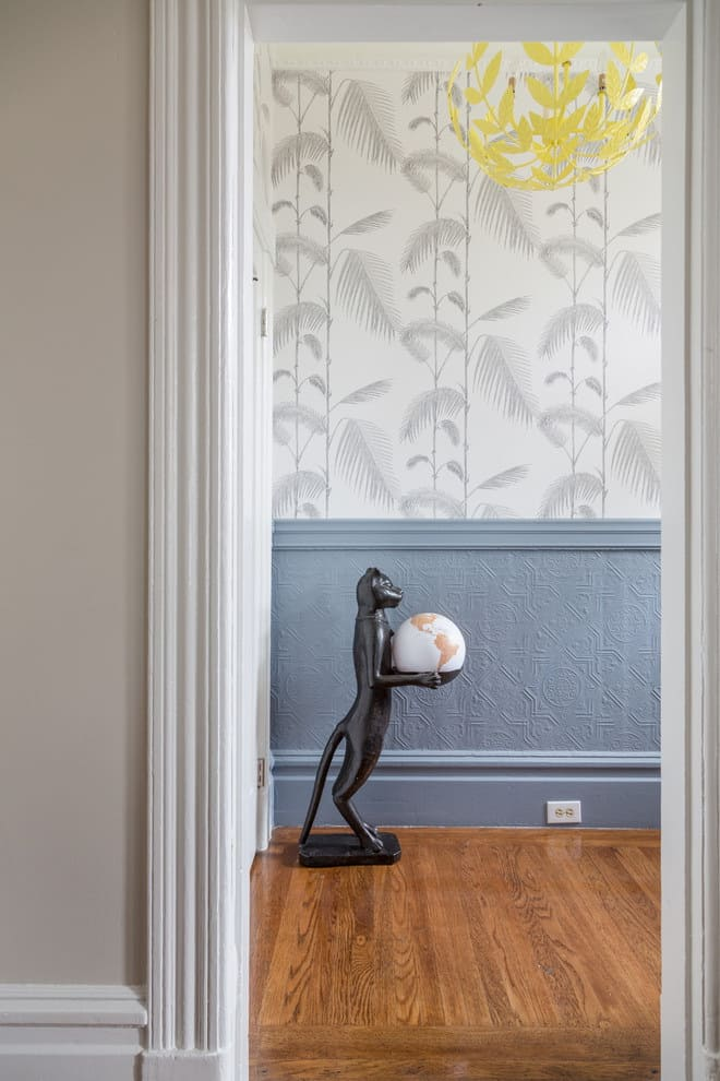 Варианты интерьера в прихожей - камень, ламинат, плитка, фреска 213