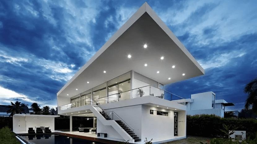 Дом хай-тек - технические и стилистические особенности 002
