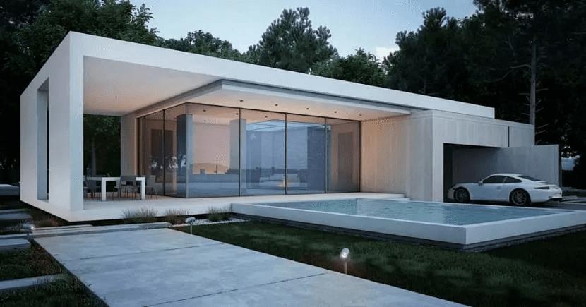 Дом хай-тек - технические и стилистические особенности 007