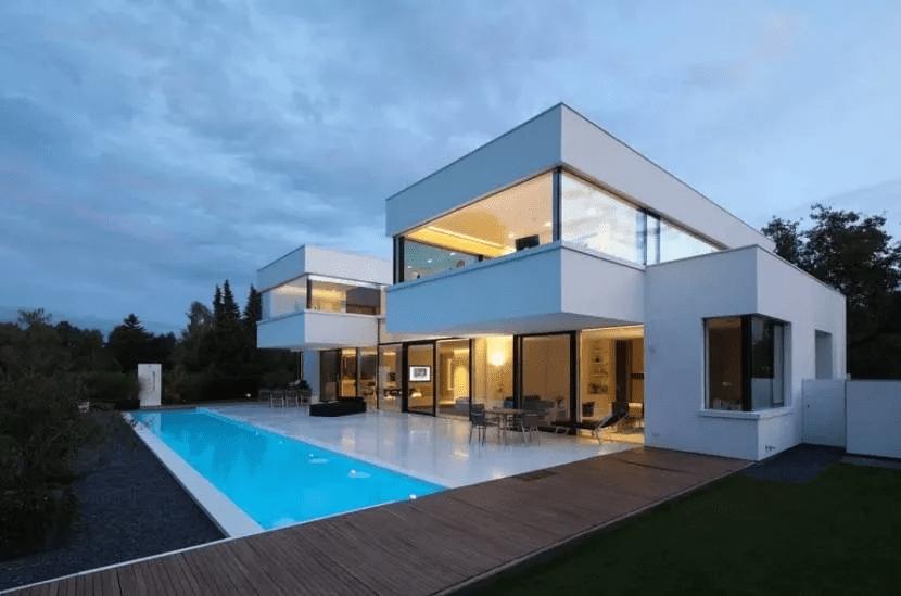 Дом хай-тек - технические и стилистические особенности 016