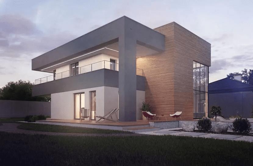 Дом хай-тек - технические и стилистические особенности 017