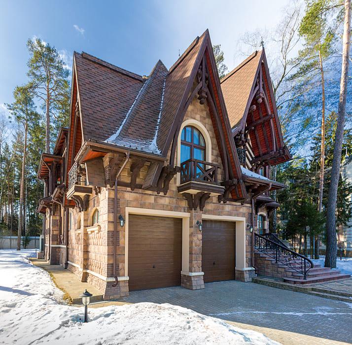 Фото красивых домов и коттеджей в России 011