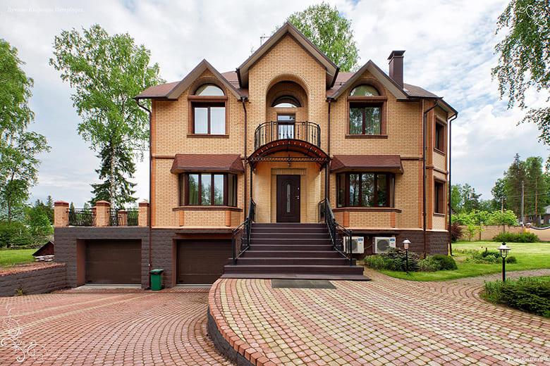 Фото красивых домов и коттеджей в России 013