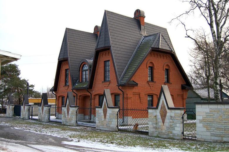 Фото красивых домов и коттеджей в России 016