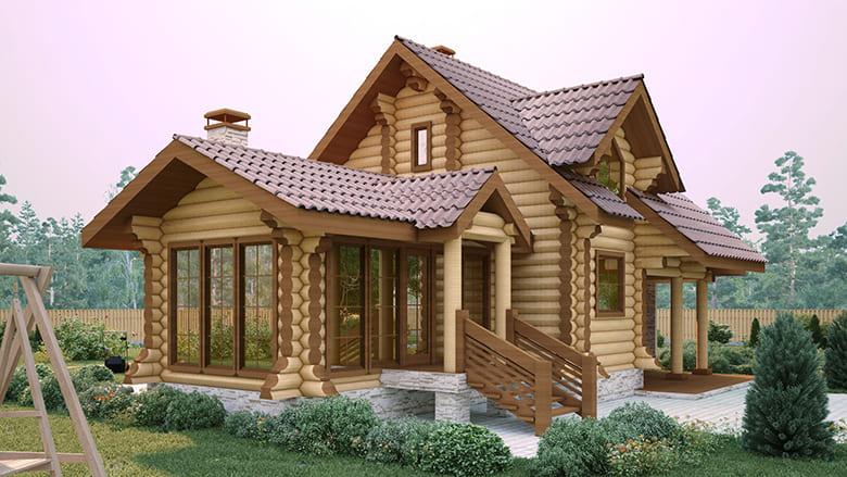 Фото красивых домов и коттеджей в России 023