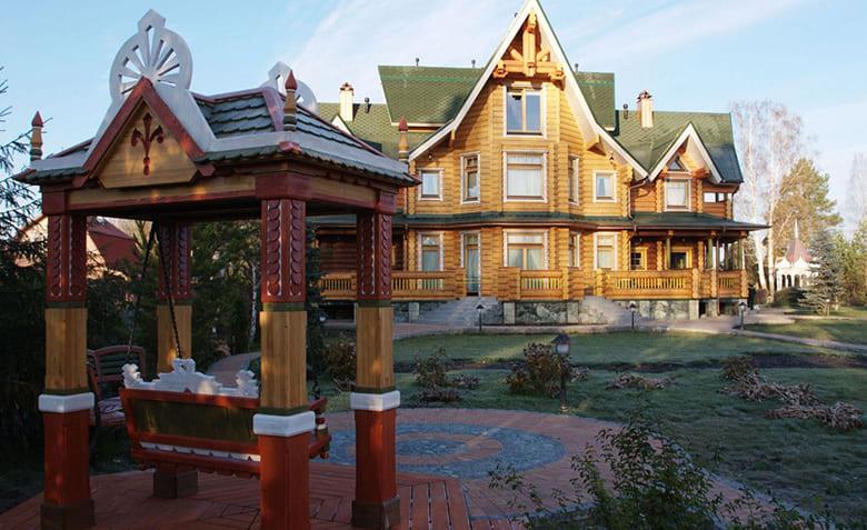 Фото красивых домов и коттеджей в России 025