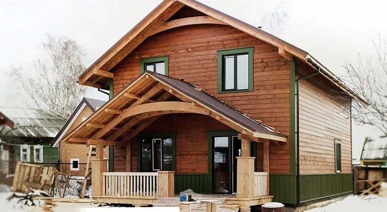 Фото красивых домов и коттеджей в России 029
