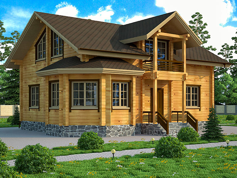 Фото красивых домов и коттеджей в России 031