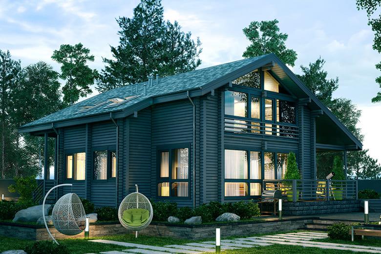 Фото красивых домов и коттеджей в России 033