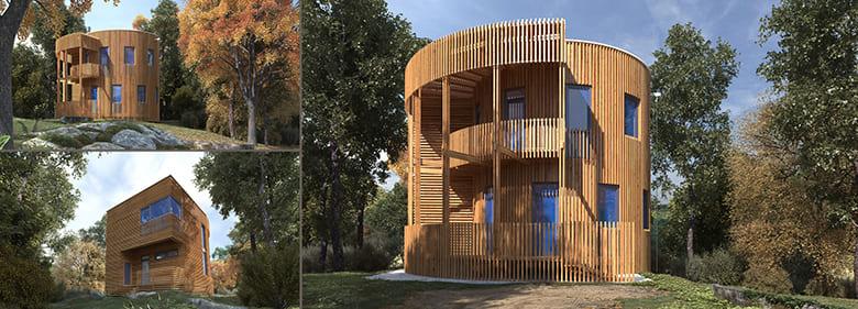 Фото красивых домов и коттеджей в России 034