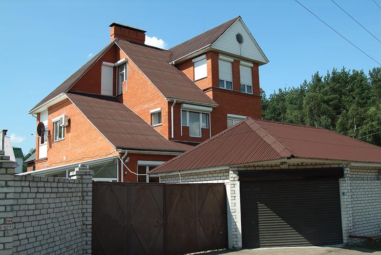 Фото красивых домов и коттеджей в России 038