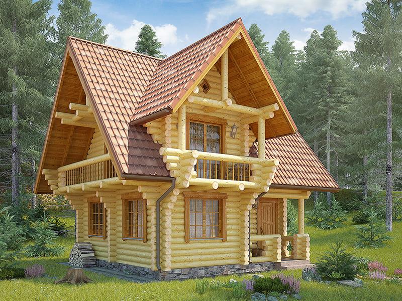 Фото красивых домов и коттеджей в России 044