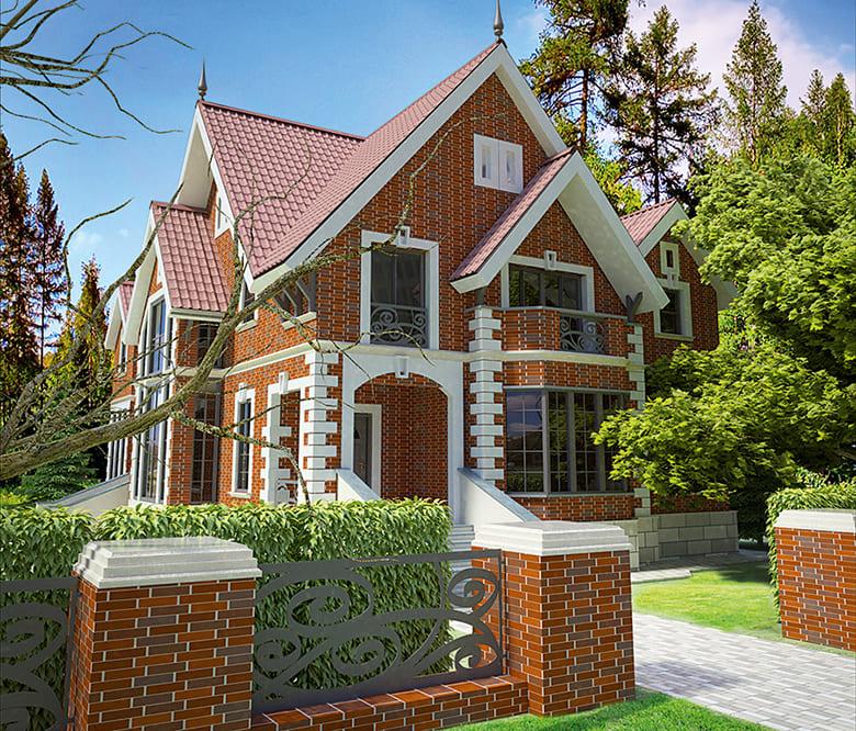 Фото красивых домов и коттеджей в России 047