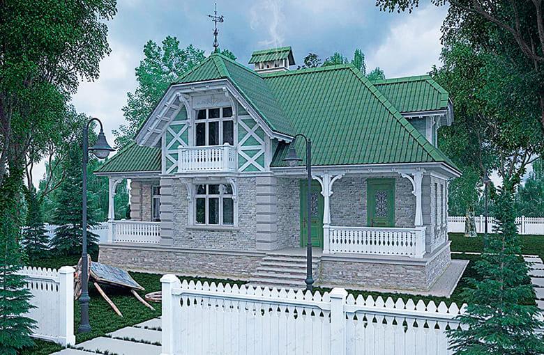 Фото красивых домов и коттеджей в России 048