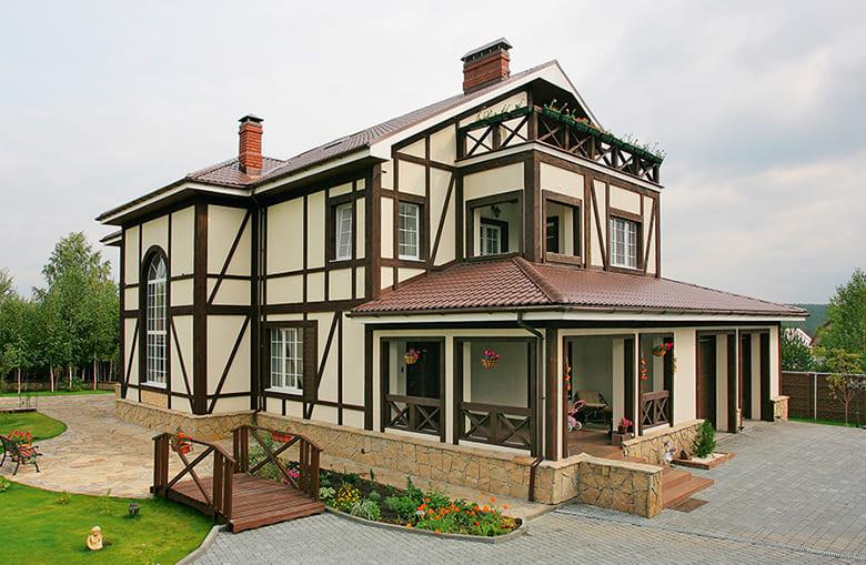 Фото красивых домов и коттеджей в России 050