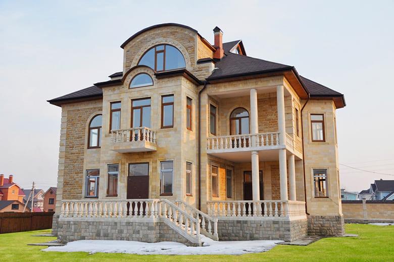 Фото красивых домов и коттеджей в России 055
