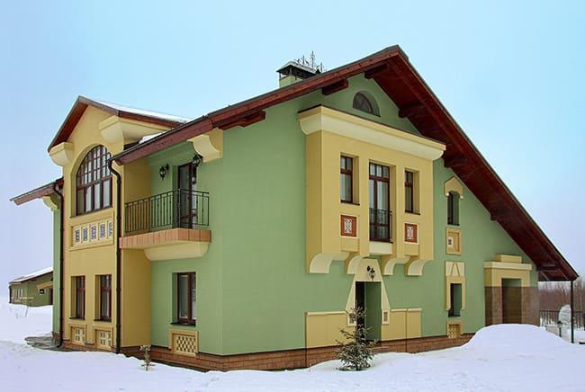 Фото красивых домов и коттеджей в России 057