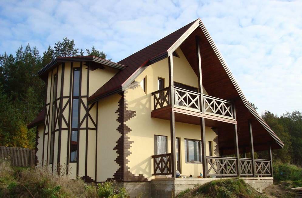 Фото красивых домов и коттеджей в России 062