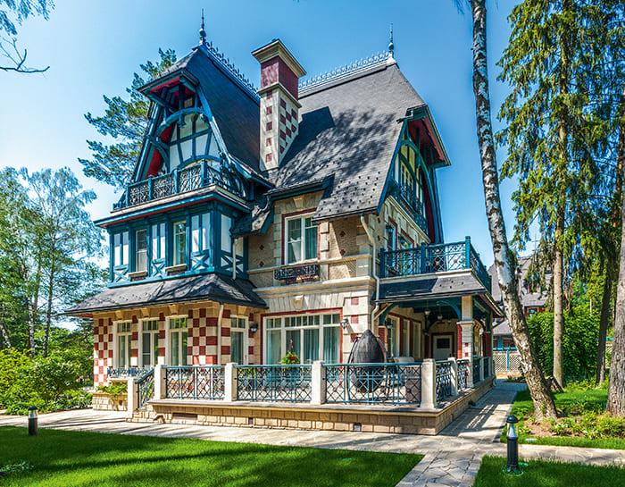 Фото красивых домов и коттеджей в России 063