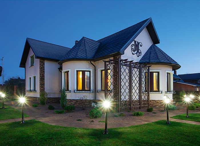Фото красивых домов и коттеджей в России 064