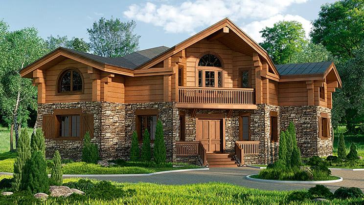 Фото красивых домов и коттеджей в России 068