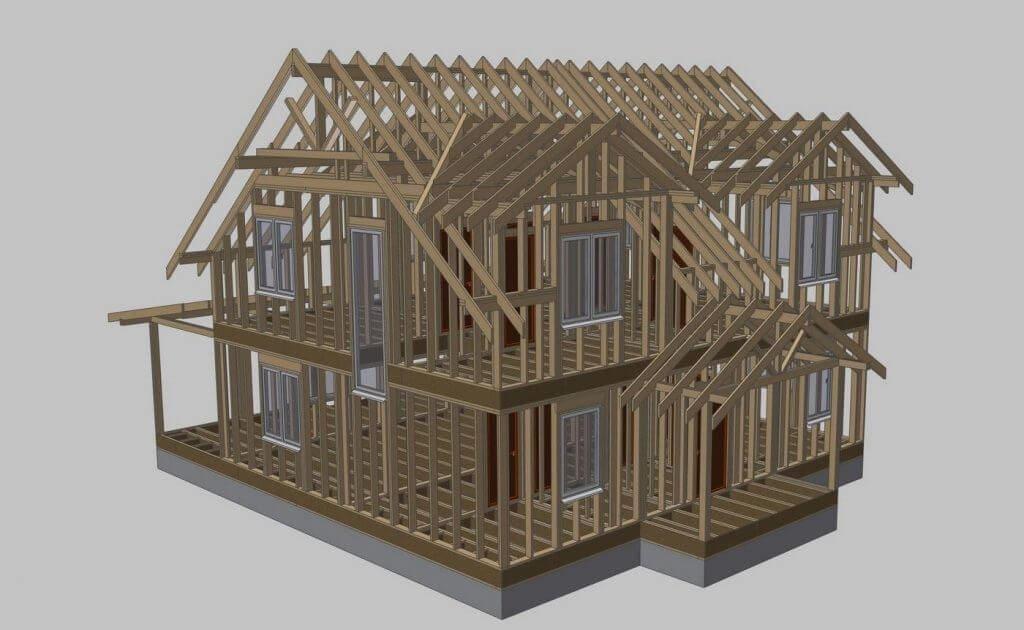 Каркасный дом своими руками - пошаговая инструкция 003