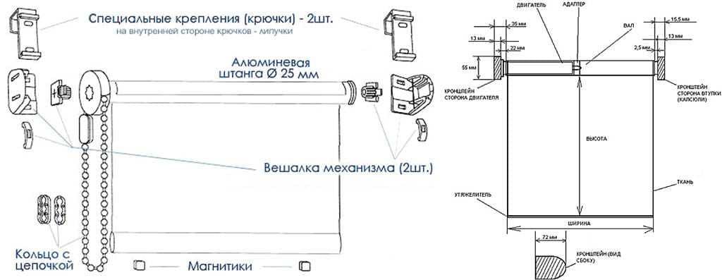 Рулонные шторы - плюсы и минусы установки, выбор материалов 029
