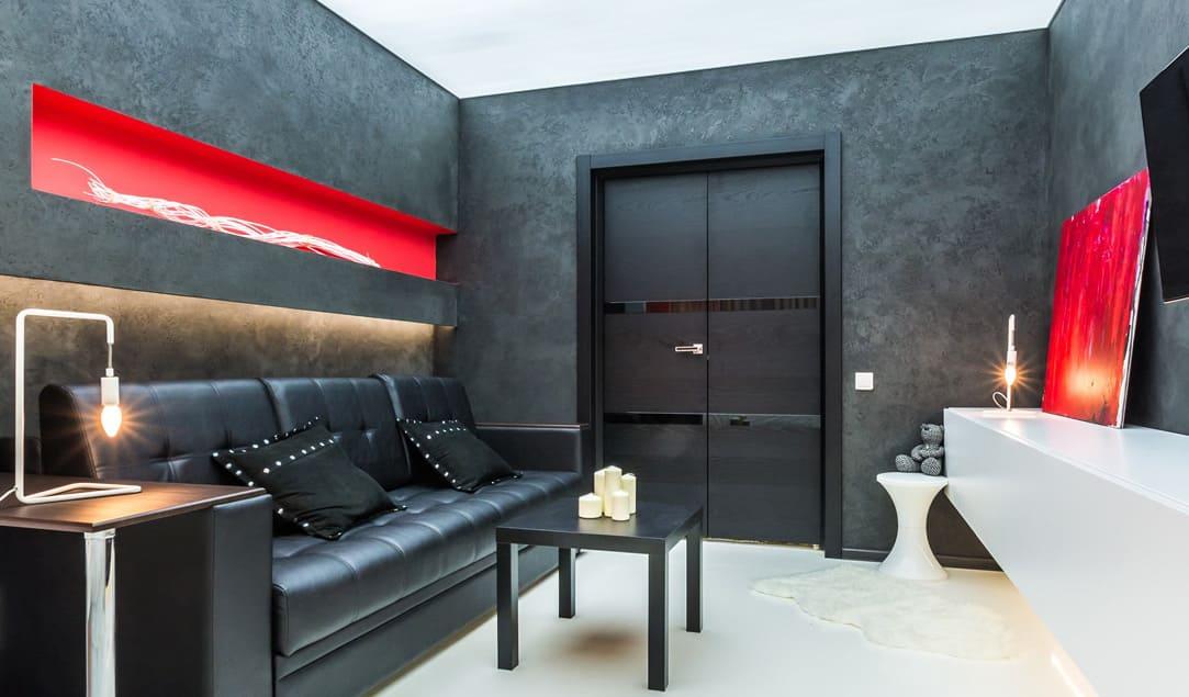 Декоративная штукатурка - лучшие красивые варианты отделки стен в интерьере 002