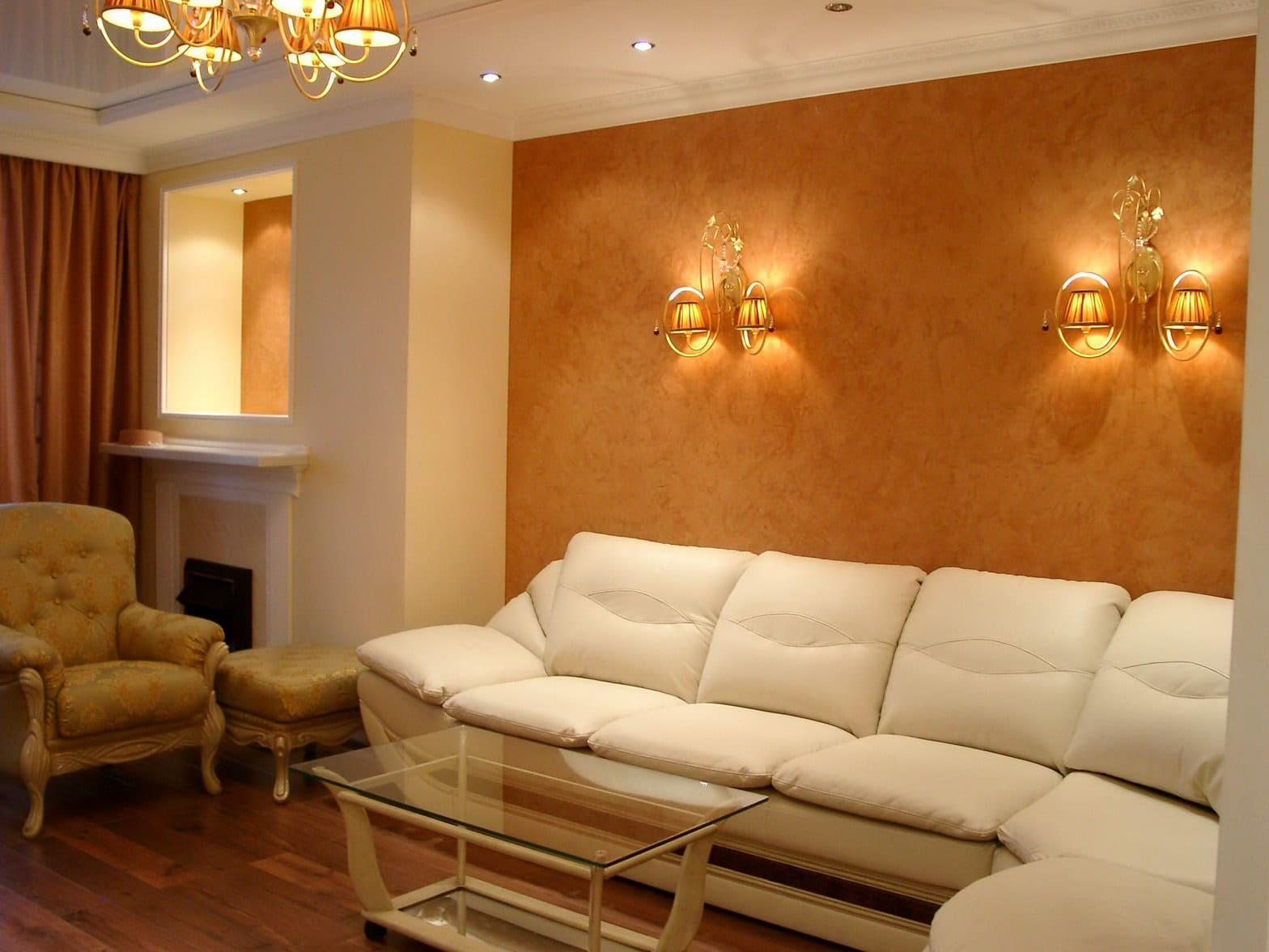 Декоративная штукатурка - лучшие красивые варианты отделки стен в интерьере 005