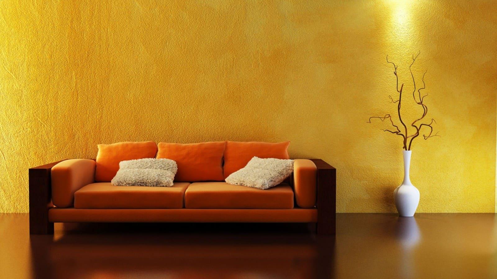 Декоративная штукатурка - лучшие красивые варианты отделки стен в интерьере 006